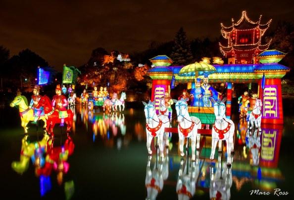 Sortie maie des lanternes chinoise